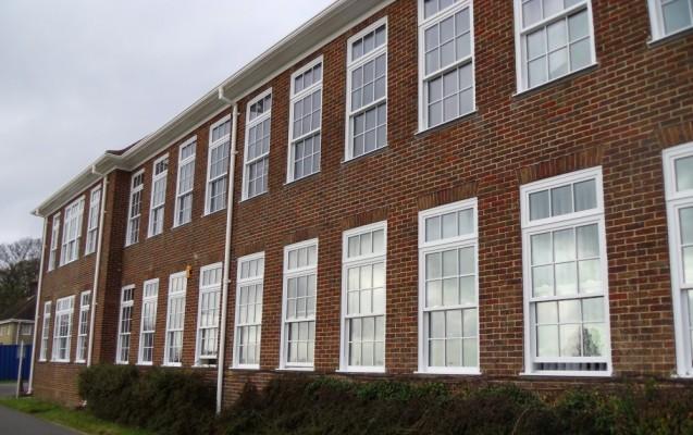Spectus Vertical sliding windows installed at Varndean College