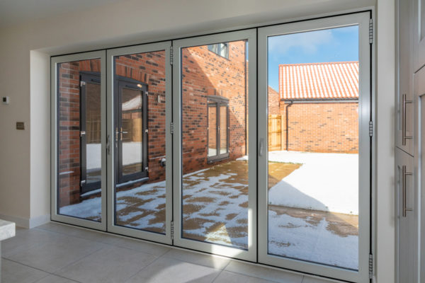 Spectus Spectus Vertical Sliding windows fitted in prestigious new build development